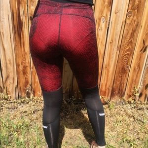 Pants - red and black sports leggings